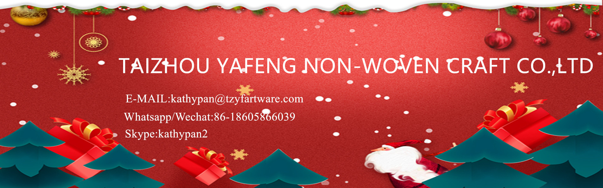 TaiZhou Yafeng non-woven fabric craft Co.,ltd